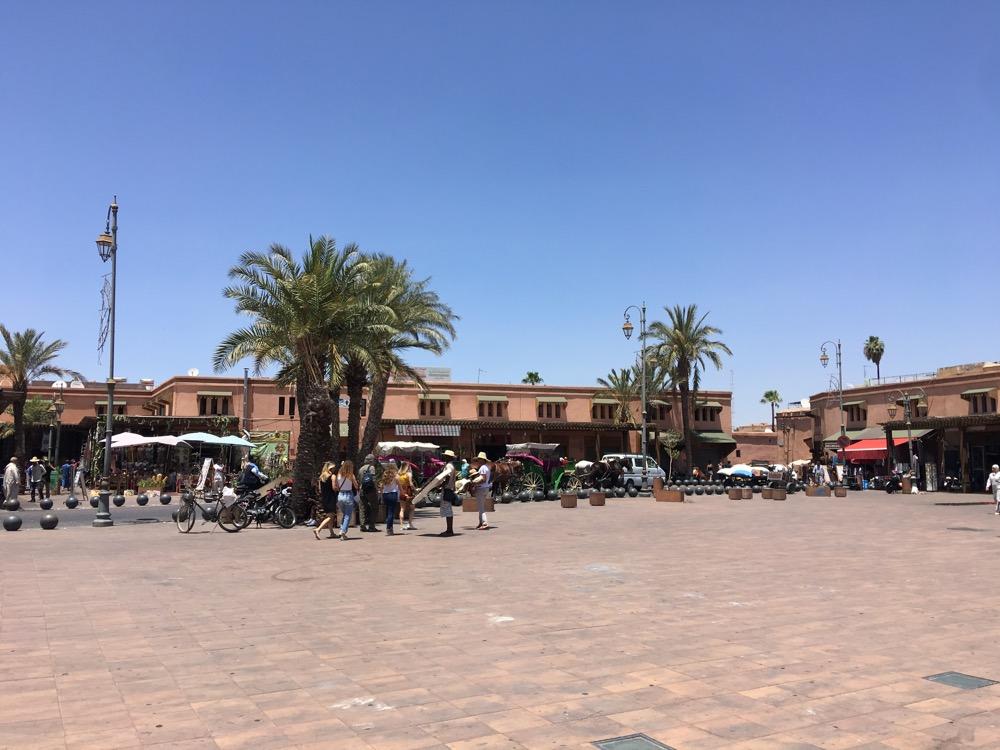 Marrakesz widok na centrum