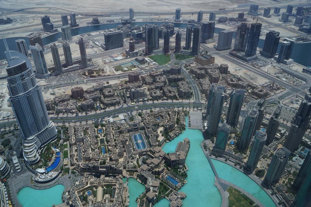 widok z burj khalifa