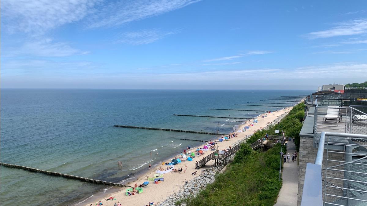 ustronie morskie plaża